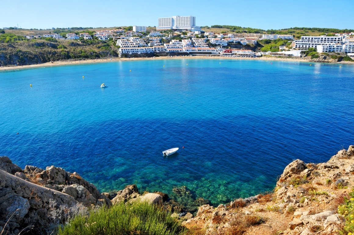 'view of Arenal d'es Castell beach in Menorca, Balearic Islands, Spain' - Menorca